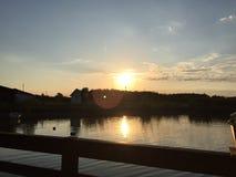Sonnenschein durch den See Lizenzfreie Stockfotografie