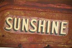 Sonnenschein-Erntemaschinen-Branding Stockfotografie