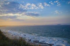 Sonnenschein-Küstensonnenuntergang Stockfotografie