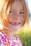 Sonnenschein und Freckles stockbild