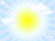 Sonnenscheinhintergrund Vektor Abbildung