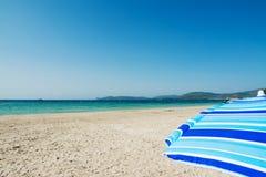 Sonnenschirm in Alghero Stockfoto