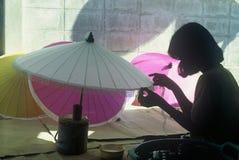 Sonnenschirm-Hersteller Stockfotos