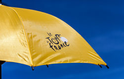 Sonnenschirm-Tour de France Stockfotografie