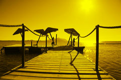 Sonnenschirme Stockbild