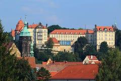 Sonnenstein-Schloss in Pirna Lizenzfreies Stockfoto