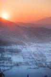 Sonnenstrahlen über dem Tal Lizenzfreie Stockfotos