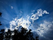 Sonnenstrahlen Stockbild