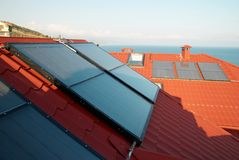 Sonnensystem der alternativen Energie Lizenzfreies Stockbild
