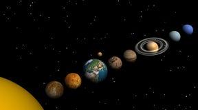 Sonnensystem in der Nacht