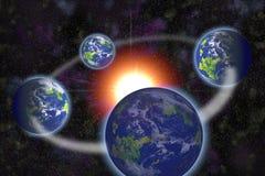 Sonnensystemprimitivformung lizenzfreie abbildung