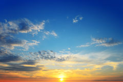 Sonnenuntergänge Stockbild