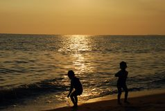 Sonnenuntergänge stockfotografie