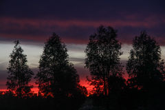 Sonnenuntergänge in Australien lizenzfreie stockfotografie