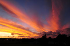 Sonnenuntergänge, Bucklands-Strand Lizenzfreie Stockfotos
