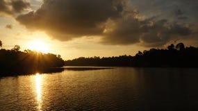 Sonnenuntergänge - Reservoir 01 lizenzfreies stockfoto