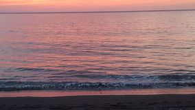Sonnenuntergänge am Strand auf La Gomera stockfoto