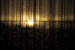 Sonnenuntergänge und Tropfen Lizenzfreie Stockbilder