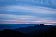 Sonnenuntergang östlich Clingmans-Haube stockbilder