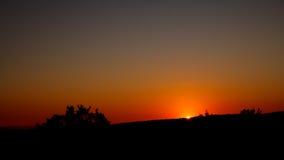 Sonnenuntergang über Addo Lizenzfreie Stockfotos