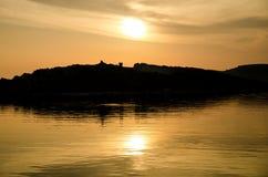 Sonnenuntergang über Adria Lizenzfreie Stockfotos