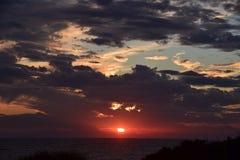 Sonnenuntergang über Atlantik Stockfotografie