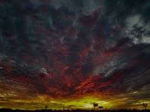 Sonnenuntergang über Austin stockbild