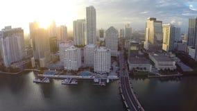 Sonnenuntergang über Brickell stock video footage