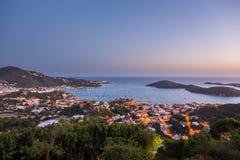 Sonnenuntergang über Charlotte Amalie St Thomas Lizenzfreie Stockfotos