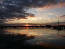 Sonnenuntergang über Chichester-Hafen England, Großbritannien Lizenzfreies Stockbild