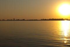 Sonnenuntergang über Chobe Lizenzfreie Stockbilder