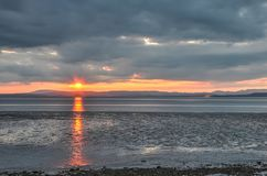 Sonnenuntergang über Cumbria lizenzfreies stockbild