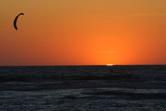 Sonnenuntergang über dem Atlantik Lizenzfreies Stockbild