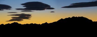Sonnenuntergang über dem Berg Rosa Lizenzfreie Stockfotografie