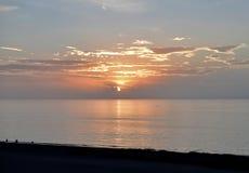 Sonnenuntergang über dem Golf von Mexiko stockbild