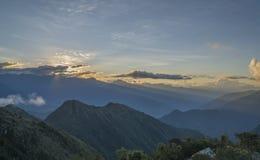 Sonnenuntergang über dem heiligen Tal Lizenzfreies Stockbild
