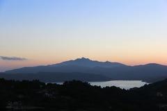 Sonnenuntergang über dem hills-4 Lizenzfreie Stockbilder