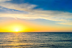 Sonnenuntergang über dem Meer, Süd-Australien Stockfotos