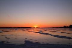 Sonnenuntergang über dem Ontariosee Stockfoto