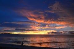 Sonnenuntergang über dem Ozean Lizenzfreies Stockfoto