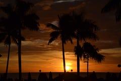 Sonnenuntergang über dem Ozean Lizenzfreie Stockfotos