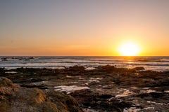 Sonnenuntergang über dem Ozean Lizenzfreie Stockfotografie
