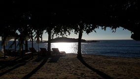 Sonnenuntergang über dem Pazifischen Ozean Lizenzfreie Stockfotografie