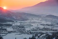 Sonnenuntergang über dem Tal Lizenzfreie Stockfotografie
