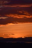 Sonnenuntergang über der schottischen Landschaft Stockfotos