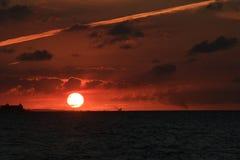Sonnenuntergang über der Stadt Lizenzfreies Stockfoto