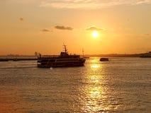Sonnenuntergang über Europa lizenzfreie stockfotos