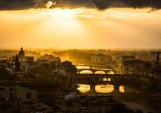 Sonnenuntergang über Florenz Lizenzfreies Stockbild