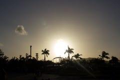 Sonnenuntergang über Freizeitpark Lizenzfreie Stockfotografie
