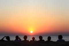 Sonnenuntergang über Goa Lizenzfreies Stockfoto